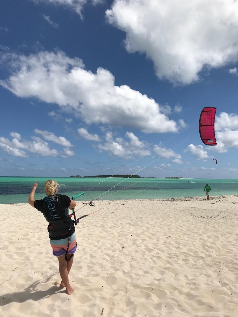 kite urlaub bahamas san salvador kitesurfen_takeoff